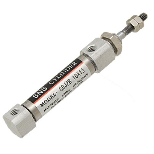uxcell 10mm Bore 15mm Stroke CDJ2B Mini Pneumatic Air Cylinder