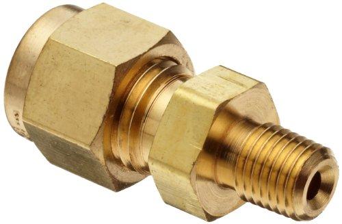 Parker A-Lok 2MSC2N-B Brass Compression Tube Fitting Adapter 18 Tube OD x 18 NPT Male