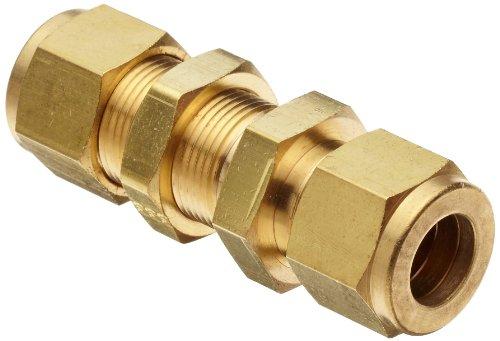 Parker A-Lok 4BC4-B Brass Compression Tube Fitting Bulkhead Union 14 Tube OD