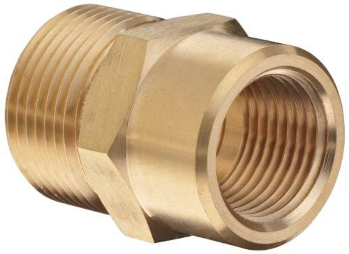 Dixon AL456 Brass Fitting Fixed Quick Coupling Plug 38 NPT Female x 22mm x 15mm Male