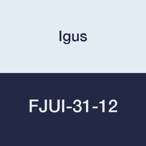 Igus FJUI-31-12 DryLin Square Flange Pillow Block for Low Clearance Straight Bearing AluminumPlastic 34 Bearing ID