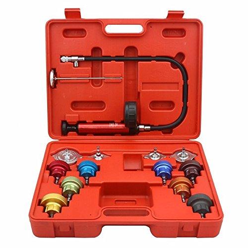 Radiator Pressure Cooling System Leak Tester Head Gasket Water Tank Adapter 14 PCS