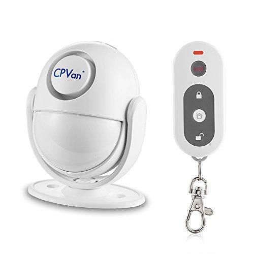 CPVAN Motion Detector Alarm Wireless Infrared Indoor Motion Sensor Remote Control DIY PIR Household Motion Burglar Alarm System Alarm Siren Kit-125dB Siren-Battery Operated-Ideal of HomeApartment