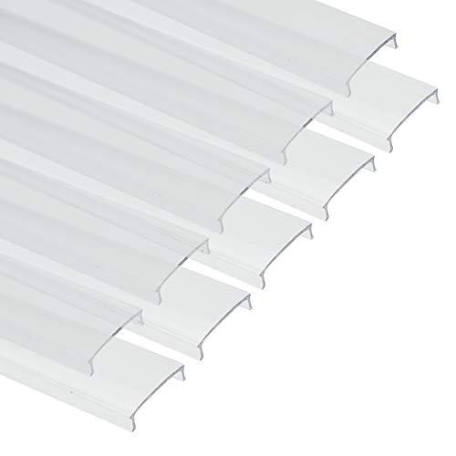 Muzata Strip LED Transparent Cover Clear Lens for U1SWMatching Most U-Shape LED Light Aluminum Channel in The Market 10 PACK-1M33ft LC03 TT 1M LA1