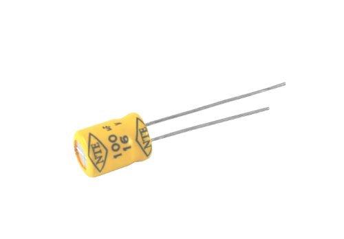 NTE Electronics NPR10M25 Series Npr Aluminum Non Polarized Electrolytic Capacitor 20 Capacitance Tolerance Radial Lead 10Μf Capacitance 25V