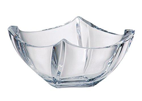 Barski - European Quality Glass - Lead Free - Crystalline - Square Bowl - 10  Diameter - Made in Europe