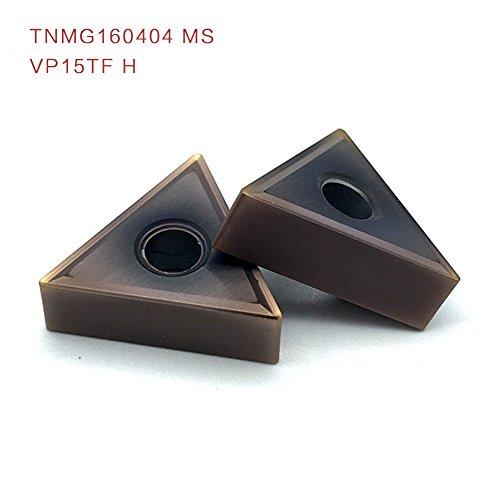 10PCS External Turning Tools TNMG160404 MS VP15TF H Carbide Tools Cutting Tool Inserts