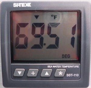 SI-TEX SST-110ST Sea Temperature Indicator with Bronze Thru Hull Transducer