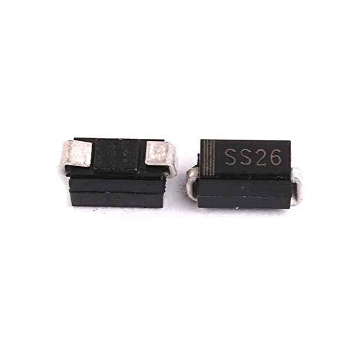 200PCS SS26 SMD Schottky Barrier Rectifier Diode 2A 60V DO-214AC SMA