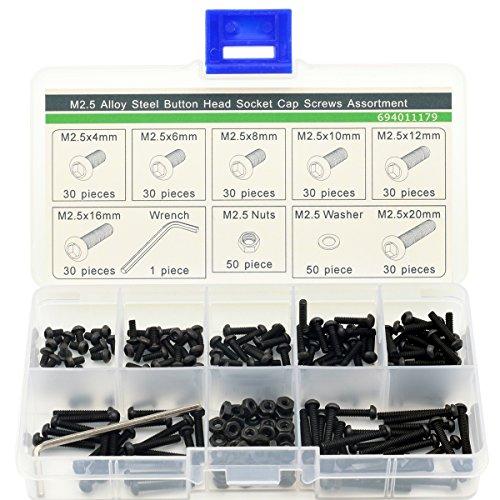 M25 Hex Socket Button Head ScrewHex NutFlat WasherWrenchAssortment Kit311 pcs