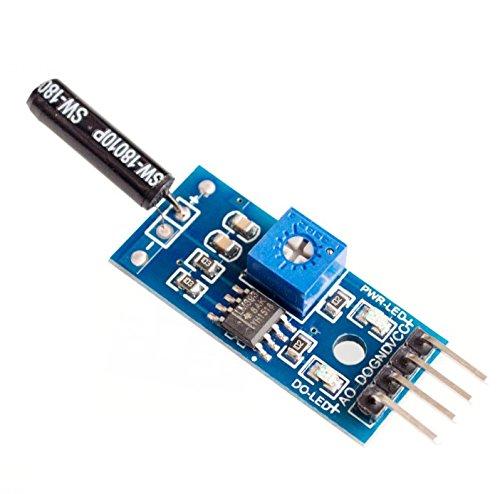10PCSLOT Normally open shock sensor module for arduino vibration sensor module alarm module