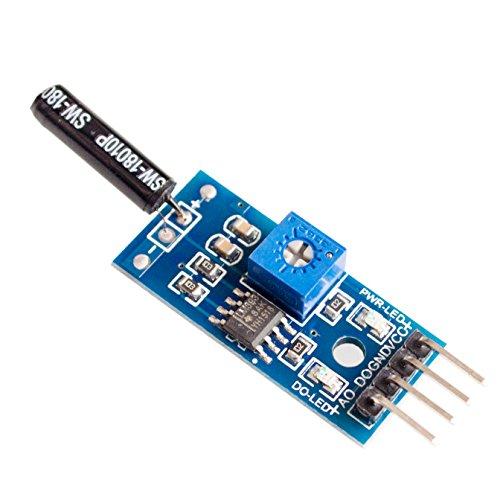AuBreey Normally open shock sensor module for arduino vibration sensor module alarm module