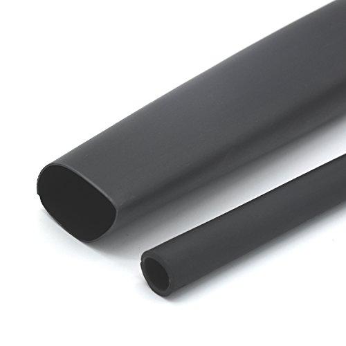 1 Inch Ratio 31 Waterproof Double Wall Heat-Shrinkable Tube with AdhesiveThickening Heat Shrinkable CasingMarine Heat Shrink TubeBlack