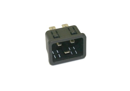 Interpower 83030460 IEC 60320 C20 Power Inlet with Quick Disconnects IEC 60320 C20 Socket Type 3mm11 Gauge Panel Thickness Black 16A20A Rating 250VAC Rating