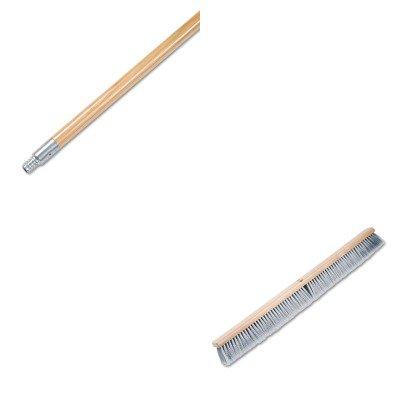 KITBWK136BWK20436 - Value Kit - Boardwalk Floor Brush Head BWK20436 and Boardwalk Metal Tip Threaded Hardwood Broom Handle BWK136