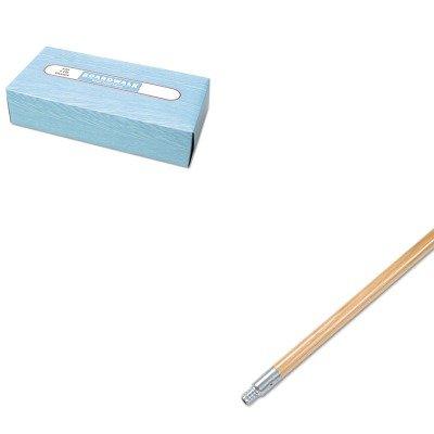 KITBWK136BWK6500 - Value Kit - Boardwalk Metal Tip Threaded Hardwood Broom Handle BWK136 and Boardwalk 6500 Two-Ply Facial Tissue BWK6500