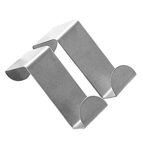 Stainless Steel Door Hooks Hanging Kitchen Cabinet Clothes Hanger On Door Back Type Strong Practical Home Accessories