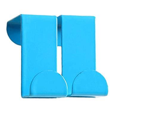 Valink 2PcsSet Cartoon Figures Over Door Hooks Silver Hook High-Grade Stainless Steel Back Door Hook Kitchen Clothes Hanger Home Accessories Blue