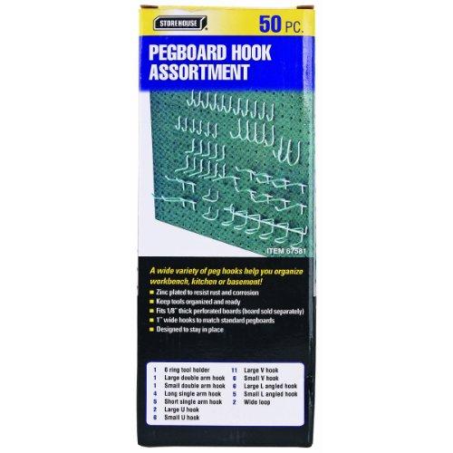 50 Pc Pegboard Hook Kit New 90 Day Warranty