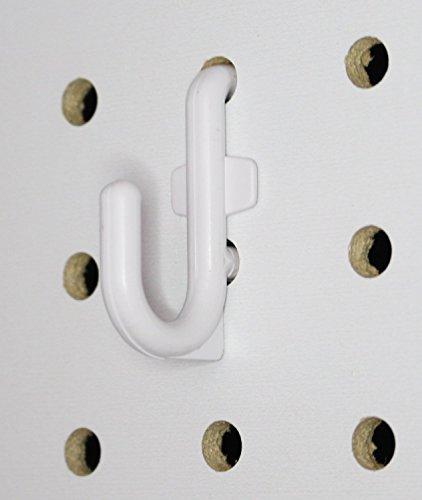PLASTIC J Hook Style Peg Board Hook Kit Garage Tool Storage Pegboard 50 pieces PEGBOARD NOT INCLUDED