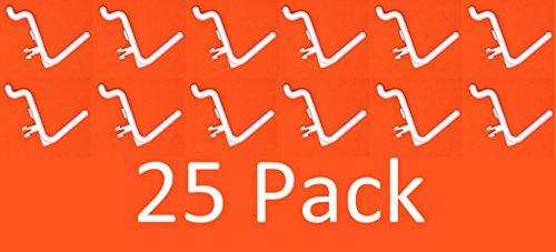 Peg Board Hook Kit Garage Tool Storage Pegboard 25 pieces L Hook Style