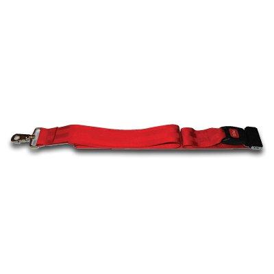 Backboard Strap 5ft wSeatbelt Buckle and Metal Swivel Clips Red
