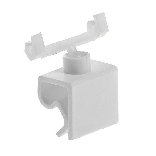 HUBERT Clip-On Sign Holder With Swivel Clip White Plastic - 1 12L x 1 12H Bag of 25