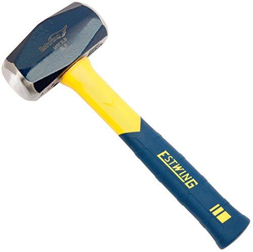 Estwing Sure Strike DrillingCrack Hammer - 3-Pound Sledge with Fiberglass Handle No-Slip Cushion Grip - MRF3LB