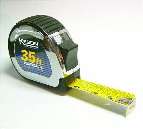 Keson PG1835 Powerglide 35 Nylon-Coated Steel Tape Measure