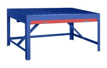 Pucel Enterprises Big Blue Welding Bench Bblue-Wb6036 Depth 36 Inch Width 60 Inch Height Adjustable 30-42 Option A Dark Green Draws Pwb-6036