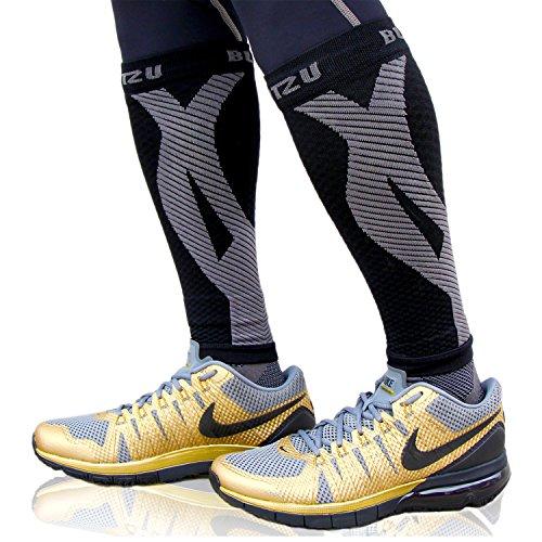 Calf Sleeves Compression Socks Black LXL