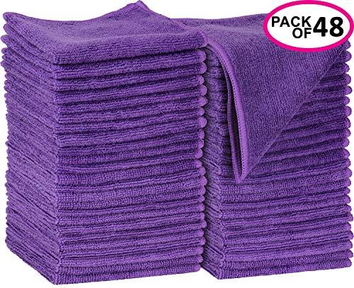 Greenco Microfiber Cleaning Cloth 48 Pack Purple