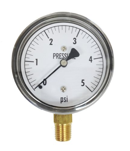 Kodiak Controls KC25-5 Low Pressure Gauge 5 PSI