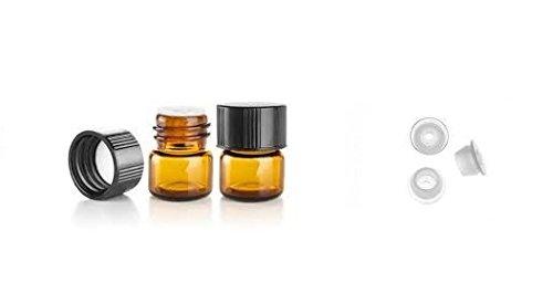 14 Dram AMBER Glass Vial - Screw Cap w Orifice Reducer - Pack of 24