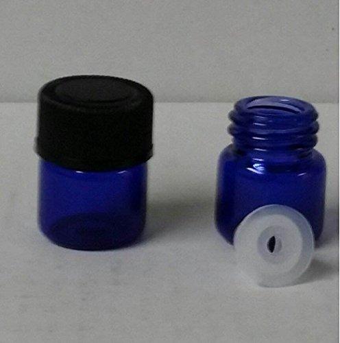 14 Dram BLUE Glass Vial - Screw Cap w Orifice Reducer - Pack of 144