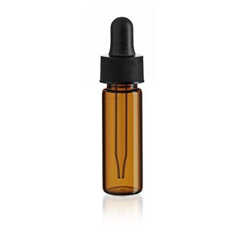 1 Dram AMBER Glass Vial - Dropper - Pack of 144
