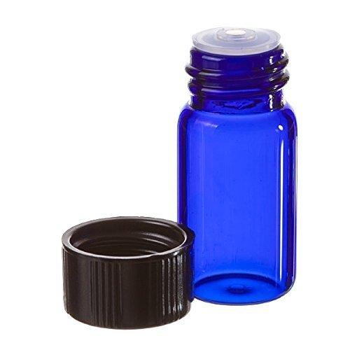 58 Dram BLUE Glass Vial - Screw Cap w Orifice Reducer - Pack of 144