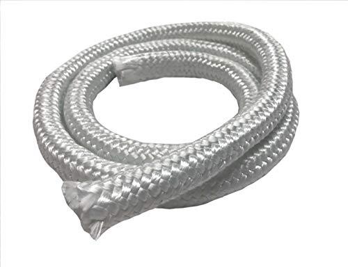 MinGlas Rope Seal - Fiberglass High Density Rope Gasket 15 x 8 feet Firm Round Braided Stove Boiler Furnace Oven Kiln Door Seal Gasket