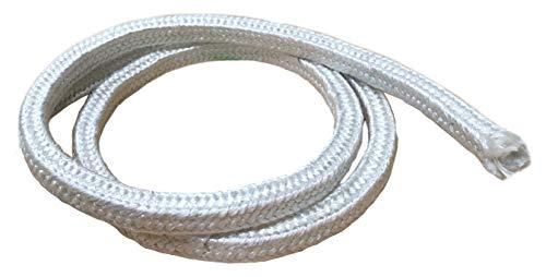 MinGlas Rope Seal - Fiberglass Square Braided Rope Gasket 2 x 8 feet Firm High-Density Stove Boiler Furnace Oven Kiln Door Seal Gasket