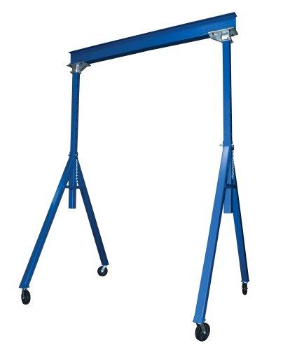 Vestil AHS-4-15-16 Steel Adjustable Height Gantry Crane 4000 lbs Capacity 15 Length x 8 Height Beam 126-192 Usable Height