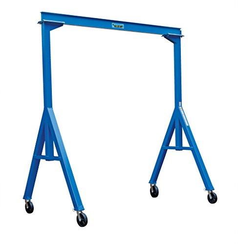 Vestil FHS-2-10 Fixed Height Steel Gantry Crane 2000 lbs Capacity 10 Length x 6 Height Beam