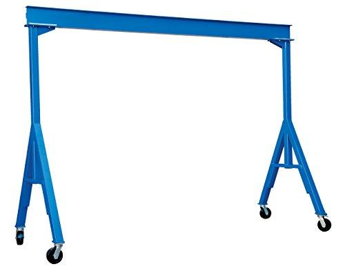 Vestil FHS-4-10 Fixed Height Steel Gantry Crane 4000 lbs Capacity 10 Length x 8 Height Beam