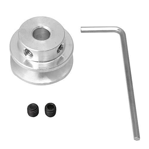 Yibuy 6mm Hole Dia V-type Step Pulley 3-5MM PU Round Belt DIY Drilling Machine