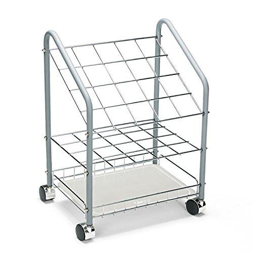 Safco 3091 Wire RollFile 20 Compartments 18w x 12-34d x 24-12h Gray