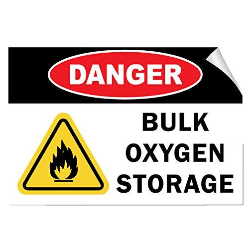 Danger Bulk Oxygen Storage Hazard Flammable LABEL DECAL STICKER 10 inches x 7 inches