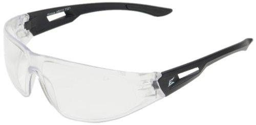 Edge Eyewear AB111 Kirova Safety Glasses Black with Clear Lens