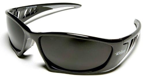 Edge Eyewear SB116 Baretti Safety Glasses Black Frames Smoke Lens