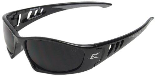 Edge Eyewear SB116 Baretti Safety Glasses Black with Smoke Lens