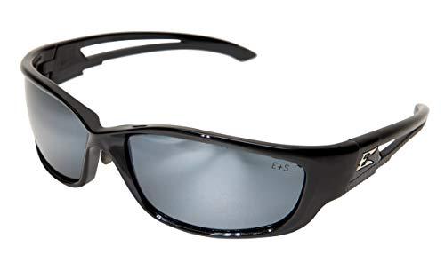Edge Eyewear SK-XL117 Kazbek XL Safety Glasses Black with Silver Mirror Lens