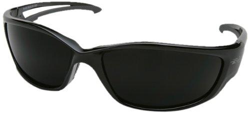 Edge Eyewear TSK-XL216 Kazbek XL Polarized Safety Glasses Black with Smoke Lens
